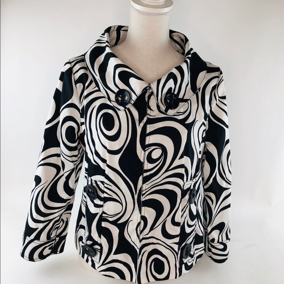 Carole Little Jackets & Blazers - Carole Little Black & White Jacket 3/4 Sleeves Med